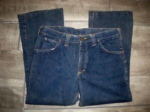 Vintage 60's LEE Selvedge Label Denim Men's Boot Cut Blue Jeans Size 31 X 26