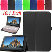 "Flip Leather Stand Case Keyboard Cover For Asus Transformer BooK T101HA 10.1"" UK"
