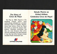 OPC Vintage United Airlines Celebrates Cinco De Mayo Advertising Promo