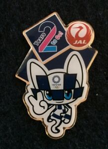 JAL 2 YEARS TO GO! MIRAITOWA JAPAN AIRLINES TOKYO 2020 OLYMPIC PIN