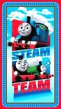 """THOMAS THE TANK ENGINE STEAM TEAM EXPRESS FABRIC QUILTING  23"""" PANEL 100% COTTON"""