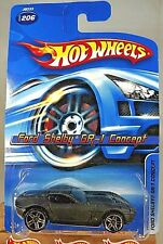 2006 Hot Wheels Collector #206 FORD SHELBY GR-1 CONCEPT Black Variant wChromePR5