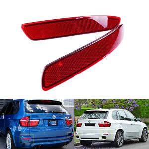 Pour BMW E70 X5 M 2006-2013 Rouge Réflecteur Arrière Pare-Chocs Gauche + Droit