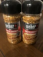 Weber Spice Kick'n Chicken Seasoning 2.50 oz. Sealed Gluten-Free Exp. Lot Of 2