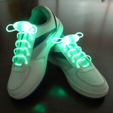Green LED Light Up Shoelaces Waterproof Shoestring - 3 Modes