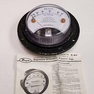 "4.75"" Dwyer Magnehelic Air Pressure Gauge 10-65 lbs/min."