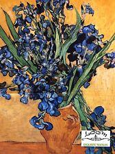 PNL64 Vincent Van Gogh Iris Impressionist Painting PANEL Cotton Quilting Fabric