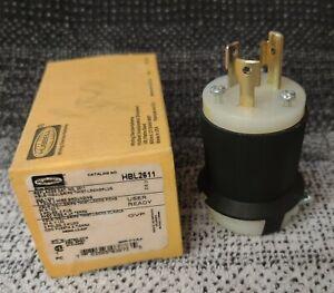 Hubbell HBL2611 30A 125V Twist-Lock Plug, 2 Pole 3 Wire Grounding, L5-30P, New