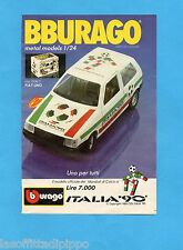 TOP989-PUBBLICITA'/ADVERTISING-1989- BURAGO ITALIA '90- FIAT UNO  1/24