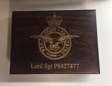WOOD MEDAL DISPLAY CASE (Large) for Full Size Medals,approx 22.5 cm by 15.5 cm.