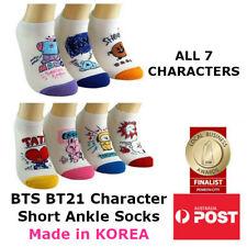 BTS BT21 Bangtan Boys KPOP Character Womens Short Lo-Cut Ankle Socks ALL 7 PAIRS