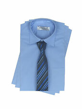 Boys Long Sleeve Cotton Blend Formal Shirt and Tie, Boys Smart Suit Shirts