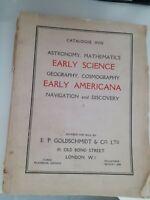 Catálogo Astronomía Mathematics Early Ciencia London E. P. Goldschmidt & Go