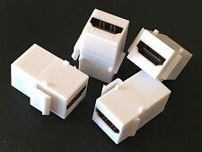 4-Pack HDMI®  Premium Keystone Connectors Jack Inserts Coupler F/F White