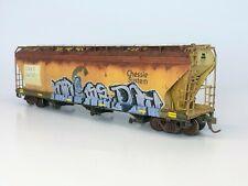 Custom Weathered &Graffiti HO Scale CSX ex-Chessie InterMountain Covered Hopper