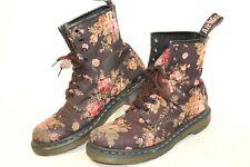 Dr Martens Docs Womens 8 39 Floral Print Canvas Ankle Boots 11821 jm