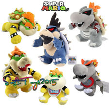 Lot of 6 Super Mario Bros King Dry Bowser Jr BB Dark Koopa Family Plush Dolls