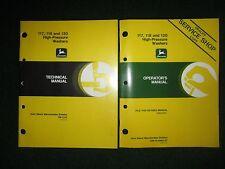 John Deere 117 118 120 High Pressure Washer Technical Manual & Operator's Manual