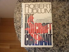 The Holcroft Covenant by Robert Ludlum. Signed and inscribed book plate attached