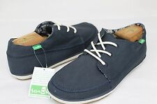 SANUK CASSIUS NAVY COLOR SIDEWALK SURFER SHOES MENS SIZE 13 US