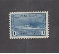 CANADA (MK3316) # 262 VF-MNH  $1 RCN TRIBAL CLASS DESTROYER/DP BLUE CAT VAL $150