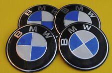 BMW Wheel Hub Caps Badge Emblem Stickers METAL 65mm Set of 4 HIGH QUALITY BIG!