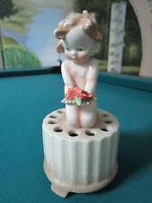 """Goebel Flower Frog Vase Tmk-1 (Cm) – The Crown Marks 7 1/2"""" * 1930s"""