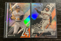 Willie Mays Refractor Lot(2) 2020 Topps Chrome Giants Die Cut & A Numbers Game