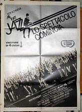 manifesto 2F originale ALL THAT JAZZ Roy Scheider Jessica Lange Bob Fosse 1980