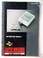 61341 Instruction Booklet - Super Nintendo Console - Nintendo SNES (1992) HW(A)-