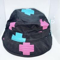 Pink Dolphin 100% Authentic Cross Bucket Hat Size Small Color Black Pink & Blue