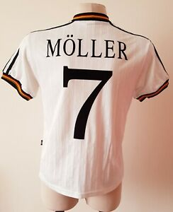 Germany 1996 Home football Adidas shirt size S #7 Möller