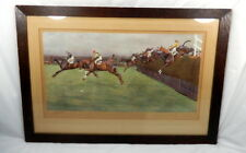 Cecil Aldin Grand National Becher's Brook Pencil Signed Artists Proof