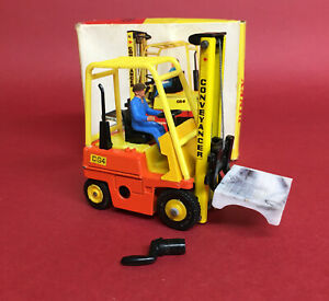 1967-72 Dinky 1/43 Climax Conveyancer Fork Lift Truck No404 ExIB