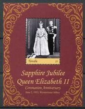 Tuvalu 2018 MNH Queen Elizabeth II Coronation Sapphire Jub 1v S/S Royalty Stamps