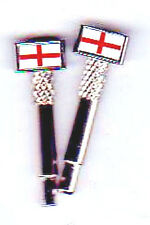 2 St. George Flag  Metal Cribbage Board Pegs With FREE Black Velvet Pouch b