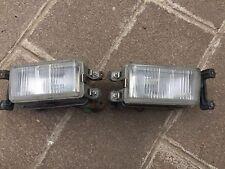 90-91 Honda Prelude Front Bumper Fog Lights Set Pair SI #1