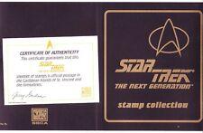 "STAR TREK ""THE NEXT GENERATION"" STAMP PORTFOLIO: ST. VINCENT #2117-8. SCV $24.50"