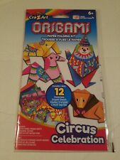 Origami Paper Folding Craft Kit with colorful playmat Circus Celebration