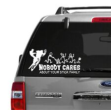 Nobody Cares / Snowmobile / Stick Family / graphic sticker / Ski-doo Arctic Cat