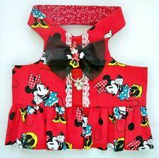 M Dog Pet Custom Fashion Harness Vest Ruffle Minnie Mouse Hearts Bow, Lace Charm