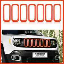 Car Front Grille Inserts Mesh Grill Accessories Orange For Jeep Renegade 2015-17