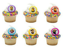 Minions Despicable Me Evolution cupcake rings (24) favor cake topper 2 dozen