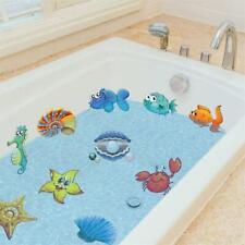 10PCS Sea Creatures Self Adhesive Bathtub Stickers Cartoon Waterproof Anti-Slip