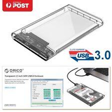 "ORICO Transparent 2.5"" USB 3.1 SATA SSD Hard Disk Drive HDD Enclosure Case Box"