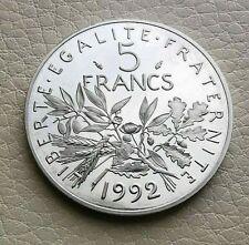 N°24  -  BE 5 Francs. 1992 Semeuse