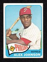 1965 Topps #352 Alex Johnson Philadelphia Phillies Baseball ROOKIE Card VG/EX+