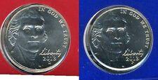 2013 P & D Jefferson Nickel Gem Bu Pair from mint sets No Reserve