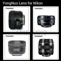 Yongnuo YN 100mm 50mm 40mm 35mm EF MF / AF Prime Fixed Lens for Nikon Camera