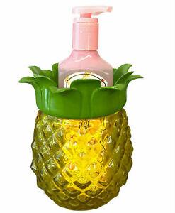 Bath & Body Works Soap Holder Pineapple Yellow Glass Foaming Soap Dish